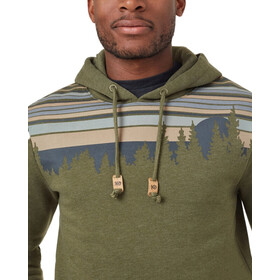 tentree Retro Juniper Classic Pull à capuche Homme, olive night green heather